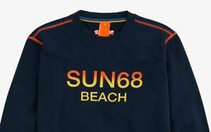 Felpa Uomo Sun68 F31140 Beach scollo tondo Cotone 100% manica lunga
