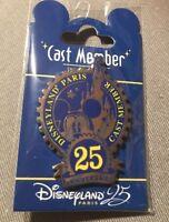 Pins Cast Members 25 ème anniversaire Disneyland paris
