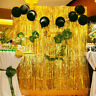 Eg _100x300cm Metallisch Fransen Vorhang Geburtstagsparty Hochzeits Dekor Bühne