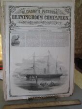 Vintage Print,BOSTON+LIVERPOOL,Lewis,Gleasons,Sept 1851