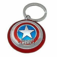 Marvel Avengers 2 Captain America Shield Pewter Key Ring