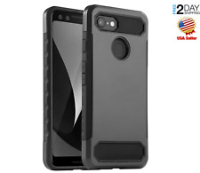 Google Pixel 3 Case Double Layer ShockProof Full Body Protection Black Cover