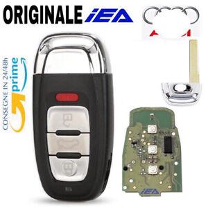Chiave ORIGINALE IEA Telecomando CHIP ELETTRONICA PER AUDI + LOGO ID46 4 TASTI