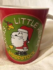 Peanuts Snoopy Christmas Santa's Little Helper Woodstock Mug by Gibson
