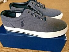Ralph Lauren Polo Grey Vaughn Shoes Trainers UK 8 New In Box BNIB 816617931002