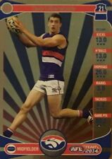 2014 afl TEAMCOACH GOLD WESTERN BULLDOGS TOM LIBERATORE #124 CARD FREE POST