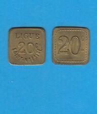 Bretagne Nécessité  Ligue Saint-Nazaire 20 centimes en Laiton