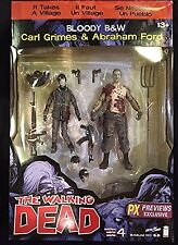 McFarlane Toys The Walking Dead Series 4 Carl/Abraham 2 Pack Bloody B&W Figures