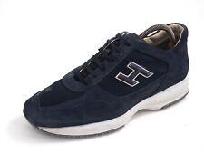 Hogan Low Top Sneakers Trainer Blue Suede Mens Shoe Size US 9 EU 42 $480