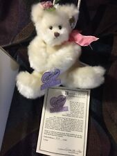 Annette Funicello Annette Funicello Mohair Panda Teddy Bear Plush Jointed Pose-able 7.5 Inches