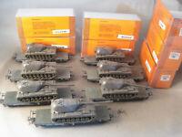 Liliput HO 21200 Flachwagen mit festem Panzer 182 Roco 7 Stück