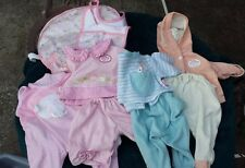 Lot of Baby Annabella Zapf Creation Clothes Diaper Bag Bib
