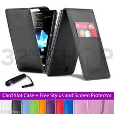Fundas con tapa Para Sony Xperia L de piel sintética para teléfonos móviles y PDAs