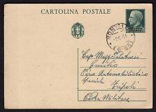 STORIA POSTALE REGNO 1941 Intero 15c da Montella a PM (FSW)