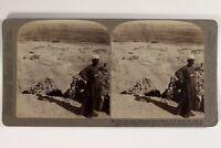 Egitto La Tinta Da Luxor Tebe Foto Stereo Vintage Citrato 1904