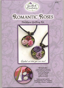 Quilling kit Romantic Roses Necklace / Jewelry #280 Makes 2 Complete NIP
