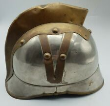 More details for antique victorian childrens? firemans helmet