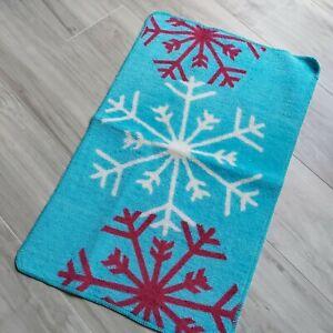 Fancy Snowflake beige Rug - 30'' x 18'' - NEW