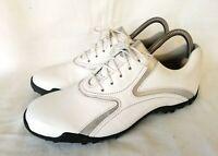 FOOTJOY 97177K Golfschuhe Damenschuhe Weiß Silber Leder UK 5.5 Gr 38,5 NEUWERTIG