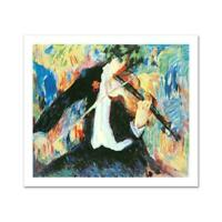 """""""The Violinist"""" LIMITED EDITION Seriolithograph Barbara Wood. Signed w/COA"""