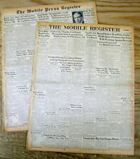 2 1946 newspapers RIOTS in CALCUTTA India DIRECT ACTION DAY Hindus Kill Moslems