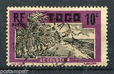 TOGO 1924, timbre 128, FLORE, PLANTES, le COCOTIER, oblitéré