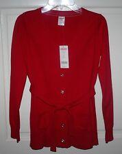 NWT Girls Gymboree Red Cardigan Sweater Size Large / 10-12