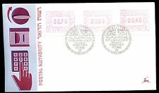 Israel 1988 Vending Machine Postage Labels FDC #C10916