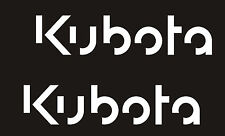 KUBOTA L3940 TRACTOR VINYL DECAL STICKER SET OF 2 BLACK with WHITE OUTLINE