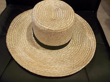 BRAND NEW GENUINE Pennsylvania  AMISH HAND MADE STRAW HAT MEN'S SIZE 7 3/8  inch