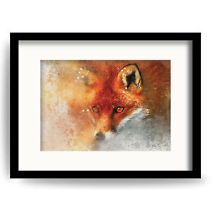 CURIOUS FOX Gallery Wall Art Picture & Prints of ORIGINAL Watercolour painting