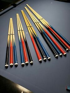 Pool snooker cues various lengths colours kids children pub home table short NEW
