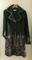 Rare Find Max Mara Marella Gorgeous Embroidered Tweed Coat UK 12 Made In Italy