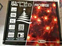 96 LED Rouge Lumières de Noel Arbre de Noël Jeux De Lumière Décorations 3,5 MT