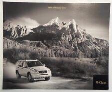 MERCEDES BENZ M CLASS orig 2000 USA Mkt Prestige Sales Brochure - ML 430 55 AMG