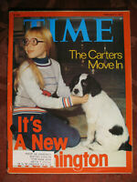 TIME magazine February 7 1977 Feb 2/7/77 THE CARTERS MOVE IN