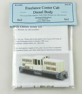 Mount Blue for Railhead Pub. Sn3 #002 Freelance Center Cab Diesel Body NOS ~T158
