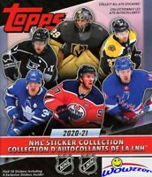 2020/21 Topps Hockey HUGE Sticker Collectors Album with 10 Bonus Stickers!