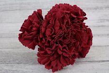1 Bunch Carnation Colourfast Foam Flowers 6 Heads Wedding 9 Colour 7cm Artifical Burgundy