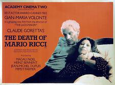 DEATH OF MARIO RICCI 1983 Gian Maria Volonté Claude Goretta UK QUAD POSTER