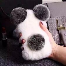 3D Cute New Luxury Winter Warm Furry Rabbit Fur Hair Panda Bear Soft Case Cover