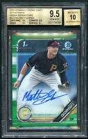 2019 Bowman Chrome Draft Green Refractor Matt Gorski Auto RC BGS 9.5/10 GEM MINT
