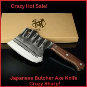 High Hardness Japanese Steel Chopping Bucher Kitchen Knife With Ebony Handle