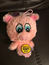Multipet Knobby Pink Pig Squeaky Plush Dog Toy Bumpy Head Cuddle Buddies