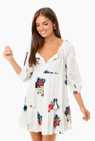 Tory Burch Embroidered Beach Tunic Cover up Dress XS 0 2 Floral $298