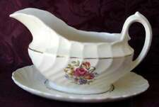 BURLEIGH WARE by BURGESS LEIGH GRAVY BOAT & UNDERPLATE