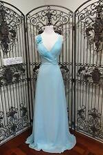 D501 LOVE BY ENZOANI F19 SKY BLUE SZ 12 $420 GOWN FORMAL DRESS