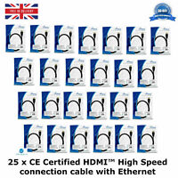 25 HDMI™ High Speed Connection Cable with Ethernet GoldPlated Contacts 10.2 Gbit