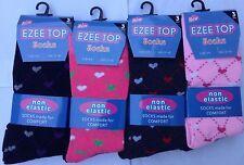 12 PAIRS NON ELASTIC DIABETIC LADIES HEART DESIGN LOOSE SOFT TOP COTTON SOCKS