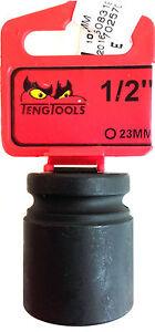 TENG TOOLS 920523-C Con 1.3cm Drive 101780757 Impact Presa 6PNT Esagonale 23mm